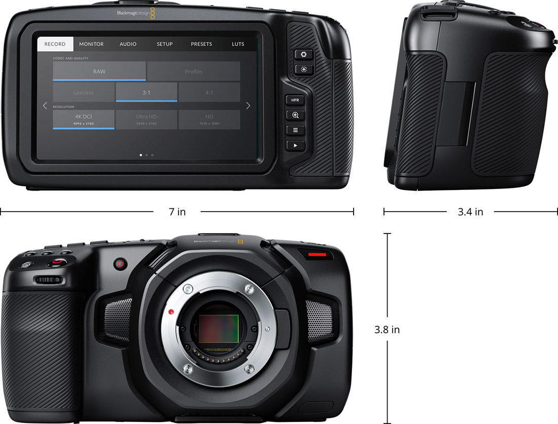 Blackmagic Design Pocket Cinema Camera 4K specifikationer